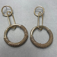 Chain Wrapped Linked Hoops