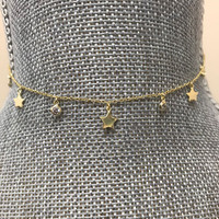 Star and Cubic Zirconia Dangle Choker
