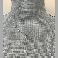 Round Cubic Zirconia & Pave Star/Moon 'åÏY'å Necklace