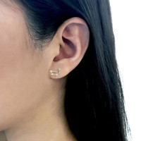 Wanderlust + Co. Capricorn Zodiac Constellation Cubic Zirconia Earrings