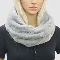 Faux Fur Infinity Neck Scarves