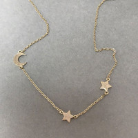 Lil‰Ûª Moon and Two Stars Chain