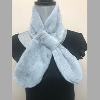 Short Faux Rabbit Plush Scarf