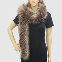 Luxurious Faux Fox Fur Scarves