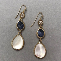 Lapis and Mother-of-Pearl Dangle Earring