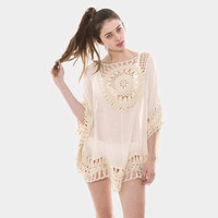 Crochet Detailed Swimwear Cover Up