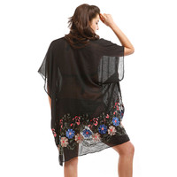 Floral Embroidered Cover up