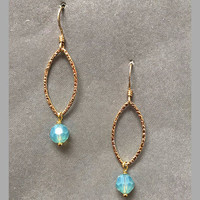 14K Gold Filled Petal with Pacific Opal Charm