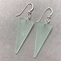 Sea Glass Shield Earrings