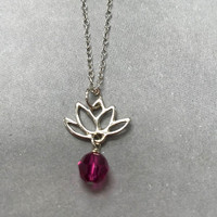 Sterling Silver Lotus Petal Necklace