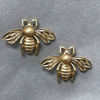Bee Motif Post Earring