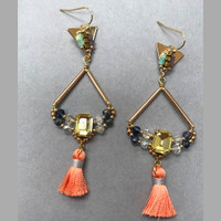 Mixed Crystals and Beads Mustique Earring