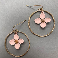 Flower in Hoop Earring