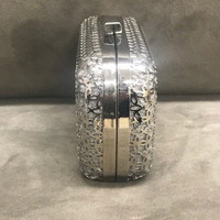 Contemporary Metal Caged Clutch