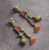 Millefiori Glass Mid Century Dangle Earring
