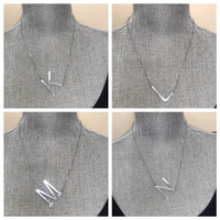 Smaller Sideways Initial Necklace