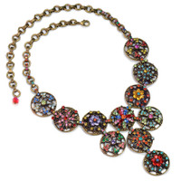 Colorful Majorca Medallions Necklace