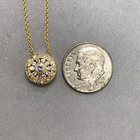 Cubic Zirconia Medula Medallion Necklace