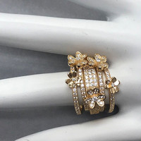 Dainty Five Band Flower Ring