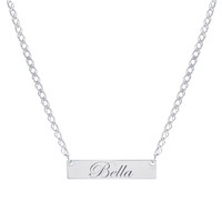 Engraved Custom Bar Name Necklace