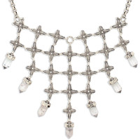 Tribe's Quartz Crystal Silver Shiva Necklace