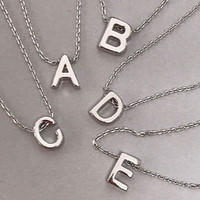 Our Dainty Dipped Initial Necklaces