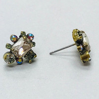 Sorrelli Washed Pastel Crystal Post Earrings