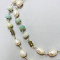 Mermaids and Pearls Semi-Precious Necklace