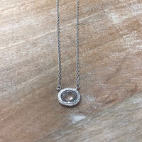 Freida Rothman Small Bezel Raindrop Necklace