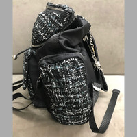 Miss CocoC Boucle and Nylon Backpack