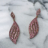 Light Pink Peony Crystal Earring