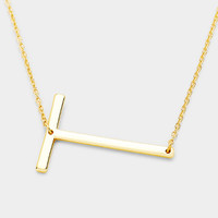 "Special Promotion 1 3/4"" Large Initial Necklace"