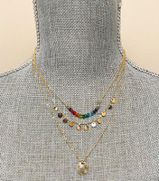 Triple Layered Chains with Rainbow Bead