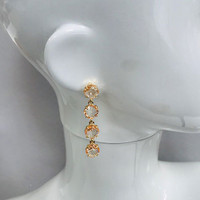 Four Faceted Crystal Dangle Earring