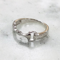 Sterling Silver Horse-bit Ring