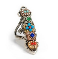 Elongated Boho Ring