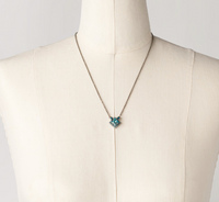 Sorrelli Blue Zircon Square Crystal Necklace