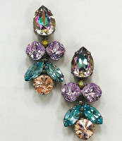 Sorrelli Lilac Pastel Crystal Earrings