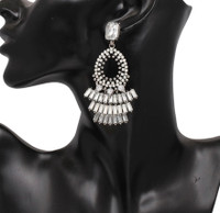 """Make an Entrance"" Luxury Neutral Crystal Statement Earring"