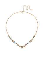 Sorrelli Light Colorado Crystal and Turquoise Necklace