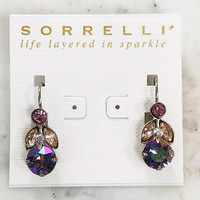 Sorrelli Lavender Peacock Crystal Euro Wire Earring