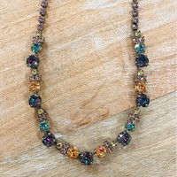 Sorrelli Light Pastel Combo With Crystal Chain Necklace