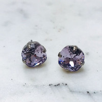 Sorrelli Simple Lilac Crystal Stud Earring