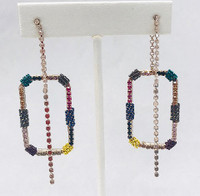 Rectangular Front and Back Earring