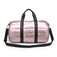 The Powerplay Rose GoldPuffer Duffel