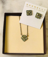 Sorrelli Square Cut Jonquil Crystal Set