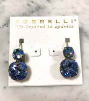 Sorrelli AB and Light Sapphire Double Crystal Earring