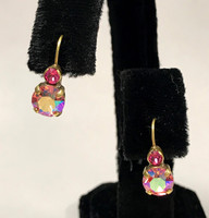Sorrelli Round Pink Crystals on a French Wire