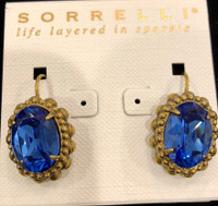 Sorrelli Sapphire Blue Crystal French Wire Earrings