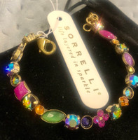 Sorrelli Pink Cabochon & Multi-Colored Crystals Bracelet